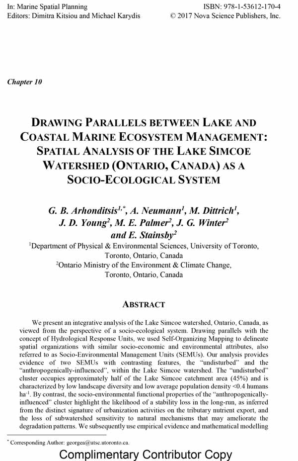 DRAWING PARALLELS BETWEEN LAKE AND COASTAL MARINE ECOSYSTEM